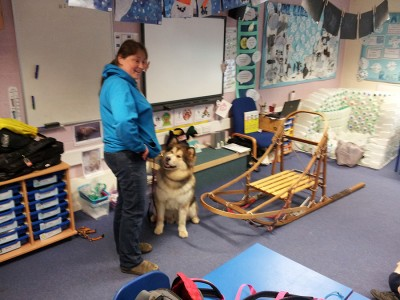 Miss Penny at School behaving herself!